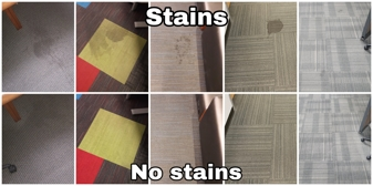 stains before and after