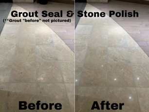 Stone Polish Before and After