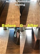 performance coating on hard wood floor before and after photos