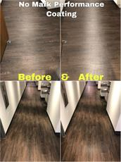 Performance coating on hard wood flooring before and after photos