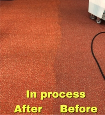 Carpet cleaning side by side