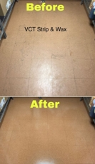 VCT Wax Strip project before and after photos